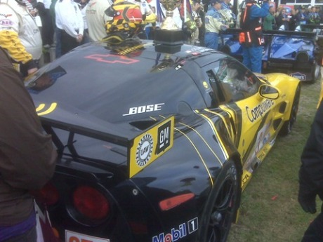 Jan & Johnny's GT2 Winning Corvette in Mosport Winners Circle